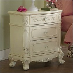 Trent Home Cinderella Nightstand in Ecru Finish