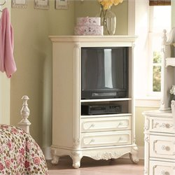 Trent Home Cinderella White TV Armoire for Girls