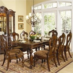 Trent Home Prenzo Rectangular Dining Table in Warm Brown Finish