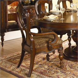 Trent Home Prenzo Arm Dining Chair in Warm Brown Finish (Set of 2)