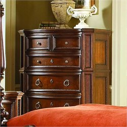 Trent Home Prenzo Chest in Warm Brown Finish