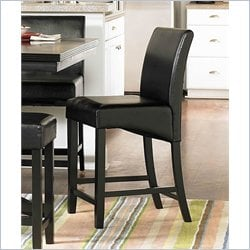 Trent Home Papario Counter Height Dining Chair in Black