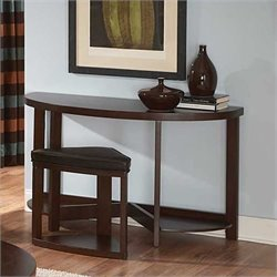 Trent Home Brussel II Console Table with Stool in Cherry