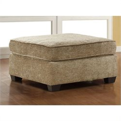 Trent Home Burke Ottoman in Brown Beige Chenille