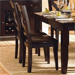 Trent Home Crown Point Dining Chair in Merlot (Set of 2)
