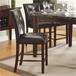 Trent Home Decatur Counter Height Dining Chair in Espresso (Set of 2)