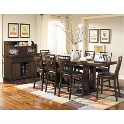 Trent Home Everett Counter Height Dining Table in Cherry