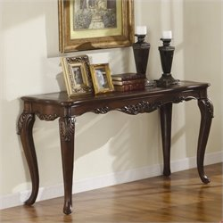 Trent Home Ella Martin Sofa Table in Warm Brown Cherry