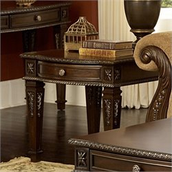 Trent Home Palace End Table in Rich Brown