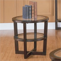 Trent Home Vista End Table in Cherry