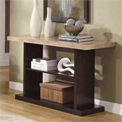 Trent Home Mooney Sofa Table in Dark Cherry