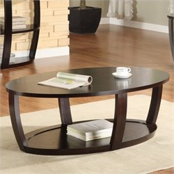 Trent Home Patterson Cocktail Table in Espresso