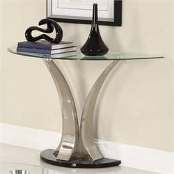 Trent Home Charlaine Glass Top Sofa Table