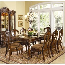 Trent Home Prenzo 7 Piece Dining Table Set in Warm Brown
