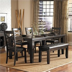 Trent Home Hawn 6 Piece Dining Table Set in Espresso