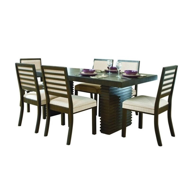 Trent Home Miles 7 Piece Dining Table Set in Dark Espresso