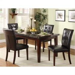 Trent Home Decatur 5 Piece Dining Table Set in Espresso