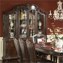 Trent Home Place Buffet and Hutch in Rich Brown