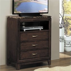 Trent Home Bleeker TV Chest in Brown Cherry