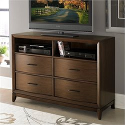 Trent Home Kasler TV Chest King Bed in Medium Walnut