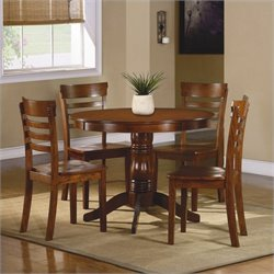 Trent Home Wayland 5 Piece Dinning Table Set in Antique Oak