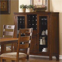 Trent Home Clayton Curio in Dark Oak