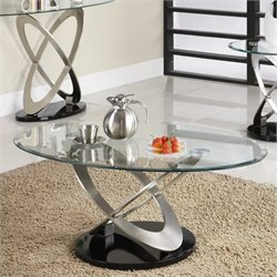 Trent Home Firth Cocktail Table in Chrome and Espresso