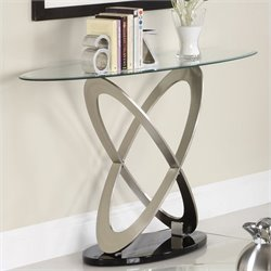 Trent Home Firth Sofa Table in Chrome and Espresso