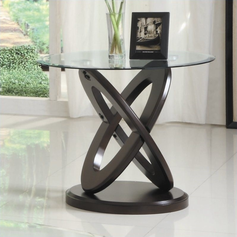 Trent Home Firth II End Table in Cherry