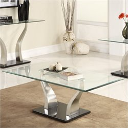 Trent Home Atkins Cocktail Table in Chrome and Espresso