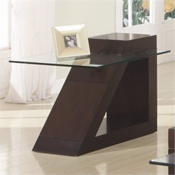 Trent Home Jensen End Table in Espresso