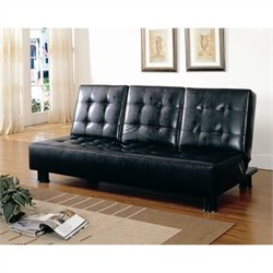 Trent Home Olivia Tess Elegant Lounger with Cup Holder in Black