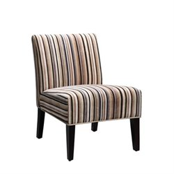 Trent Home Lifestyle Fabric Accent Slipper Chair in Multi-Colored Stripe