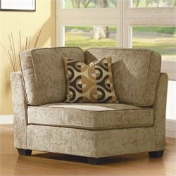 Trent Home Burke Modular Corner with 1 Pillow in Beige