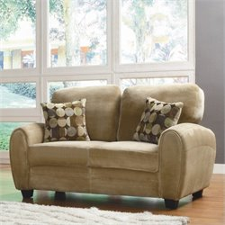 Trent Home Rubin Loveseat in Light Brown