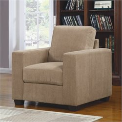 Trent Home Paramus Chair in Brown Corduroy