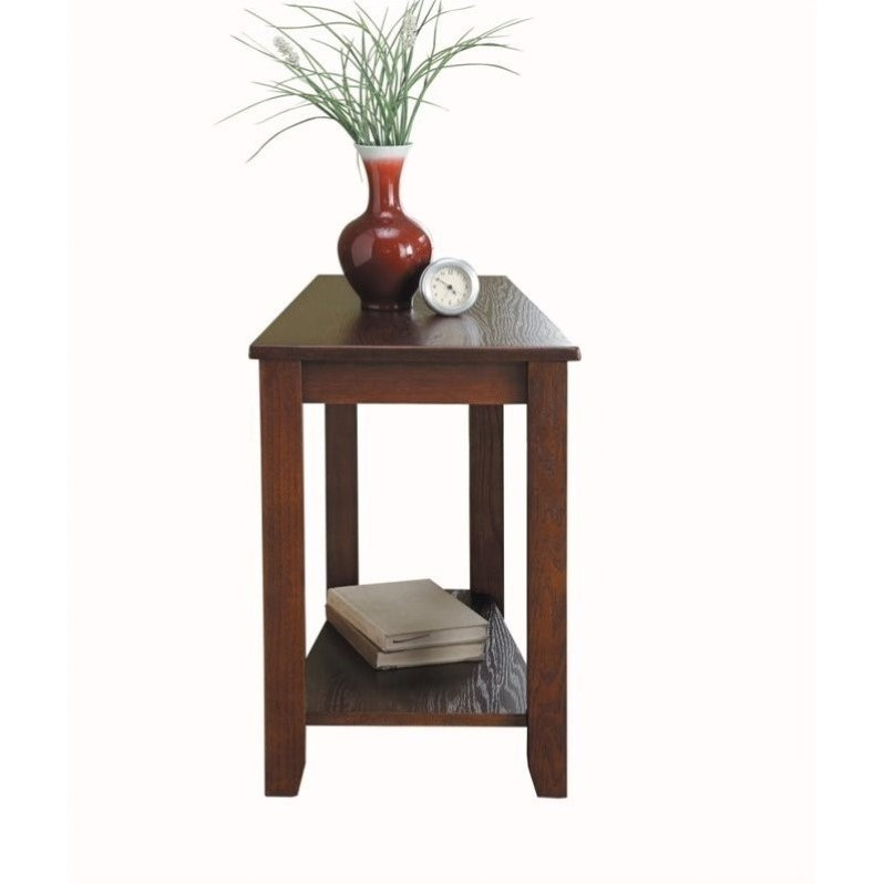 Trent Home Elwell Chair-Side Table in Espresso