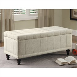 Trent Home Afton Storage Bench in White