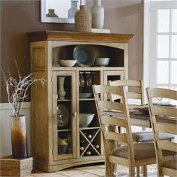Trent Home Nash Curio in Oak