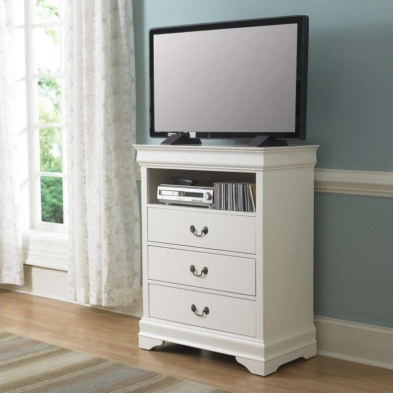 Trent Home Marianne TV Chest in White