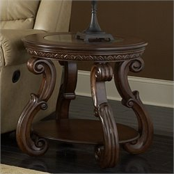 Trent Home Cavendish End Table in Warm Cherry