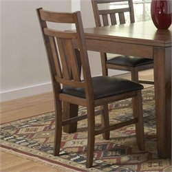 Trent Home Kirtland  Dining Chair in Warm Oak