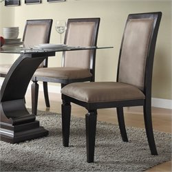 Trent Home Plano  Dining Chair in Espresso Finish (Set of 2)