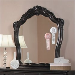 Trent Home Cinderella Mirror in Dark Cherry Finish