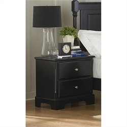 Trent Home Morelle Night Stand in Black