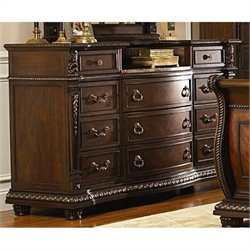 Trent Home Palace Dresser with Marble Insert