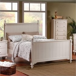 Trent Home Pottery Panel Bed in White Finish