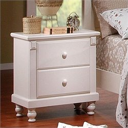 Trent Home Pottery White Nightstand