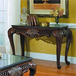 Trent Home Gladstone Sofa Table with Marble Top