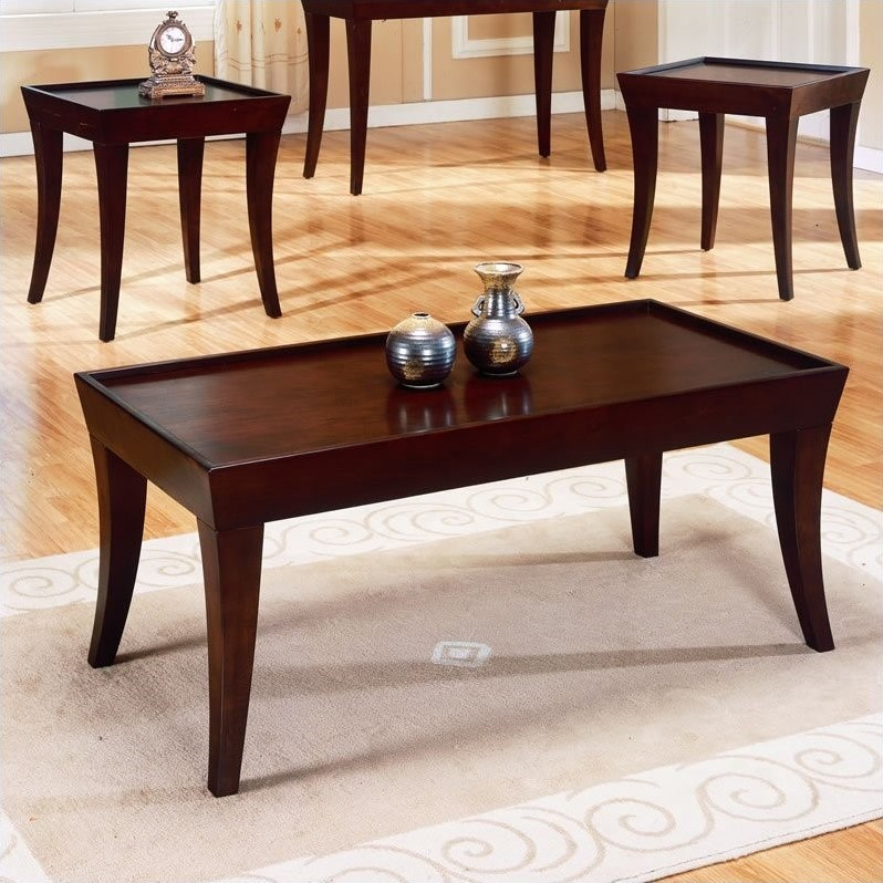 living room coffee table sets trent home zen 3 piece occasional table